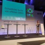 Matthias Wauer präsentiert OPAL auf der mFUND-Konferenz 2018